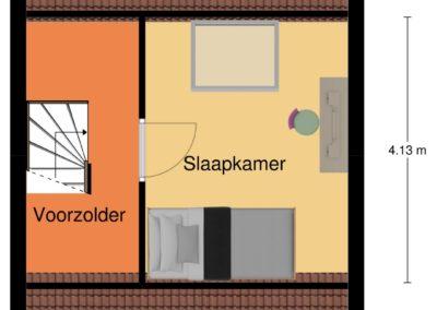 Plattegrond 2de etage