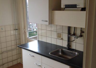Keuken met doorgang balkon